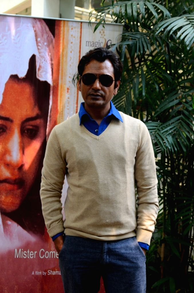 Actor Nawazuddin Siddiqui during the screening of Miya Kal Aana in Mumbai on April 10, 2017. - Nawazuddin Siddiqui