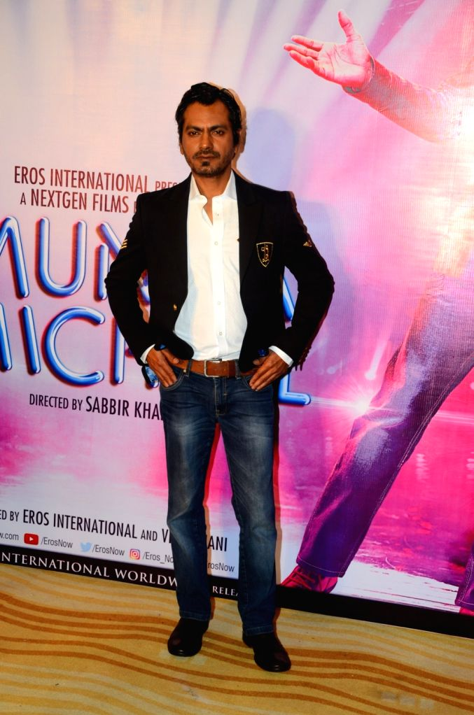 """Actor Nawazuddin Siddiqui during the song launch """"Swag"""" from his upcoming film """"Munna Michael"""" in Mumbai, on July 5, 2017. - Nawazuddin Siddiqui"""
