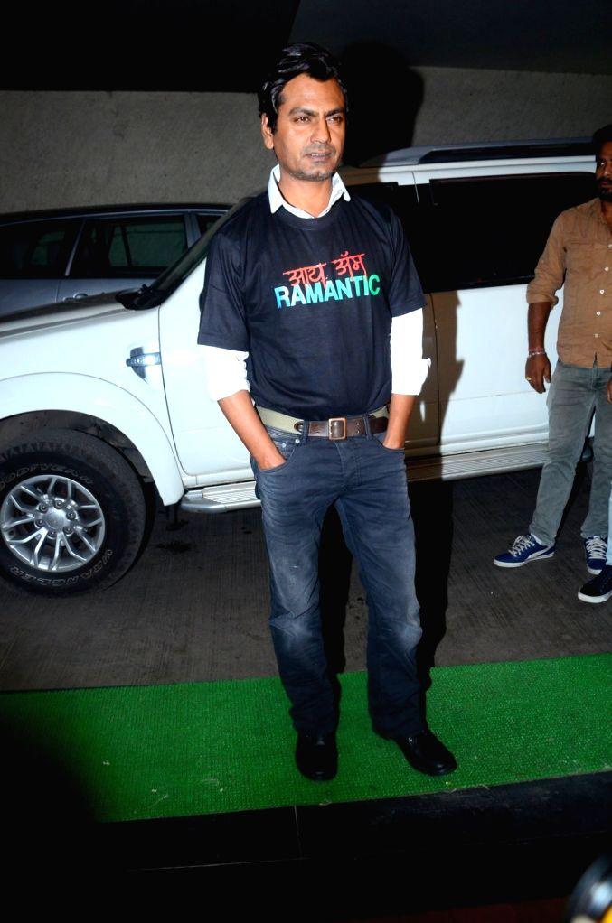 Actor Nawazuddin Siddiqui during the special screening of film Raman Raghav 2.0 in Mumbai on June 22, 2016. - Nawazuddin Siddiqui