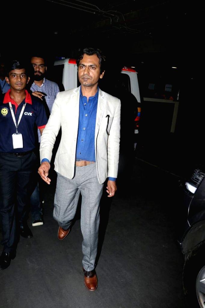 Actor Nawazuddin Siddiqui spotted at airport in Mumbai on June 9, 2017. - Nawazuddin Siddiqui