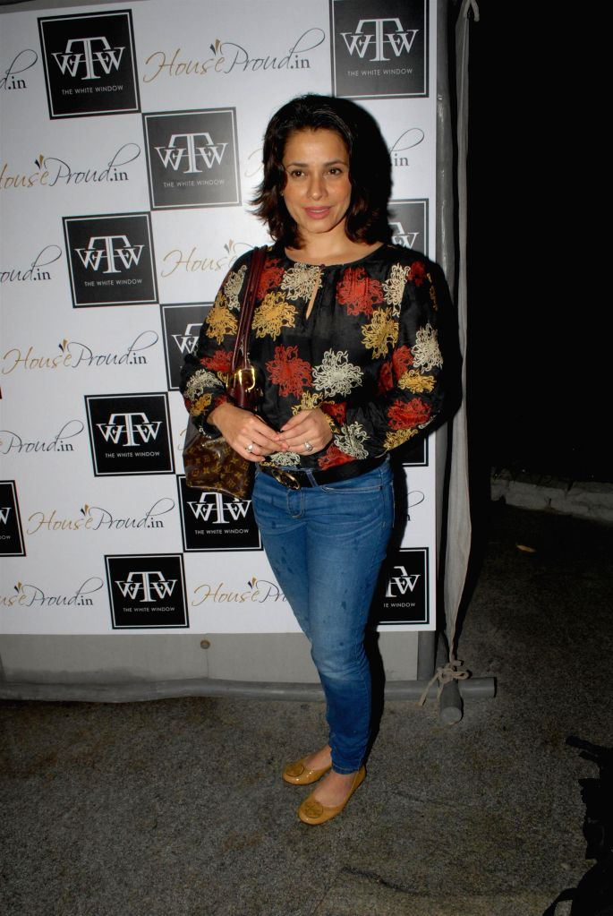 Actor Neelam during the preview of the latest Flower Power Collection at The White Window store in Mumbai, on July 31, 2014. - Neelam