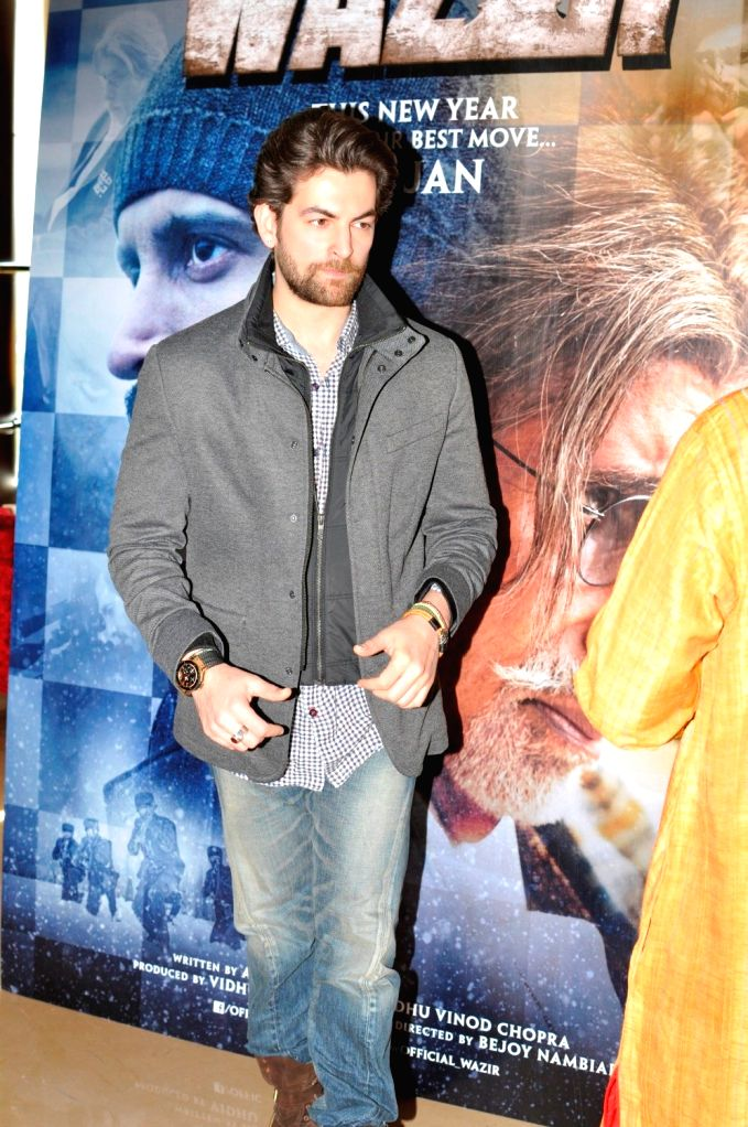Actor Neil Nitin Mukesh during the trailer launch of film Wazir in Mumbai on Nov 18, 2015. - Neil Nitin Mukesh
