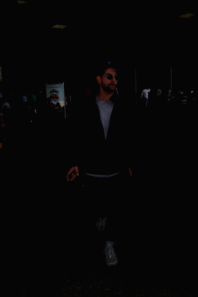 Actor Neil Nitin Mukesh spotted at Chhatrapati Shivaji Maharaj International Airport in Mumbai, on June 10, 2017. - Neil Nitin Mukesh