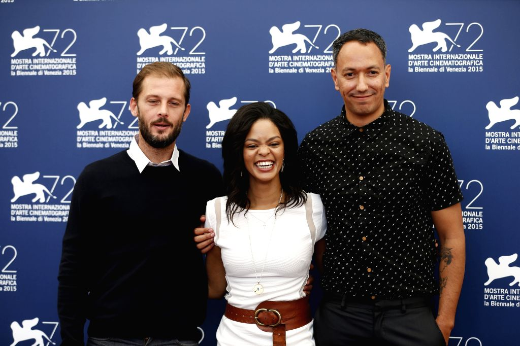 "Actor Nicolas Duvauchelle (L), actress Crystal-Donna Roberts and director Oliver Hermanus pose during a photocall of the movie ""The Endless River"" ... - Nicolas Duvauchelle"