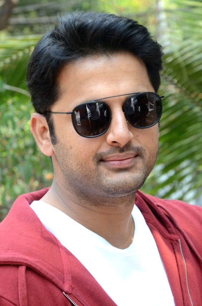Actor Nithiin during a interview in Hyderabad. - Nithiin