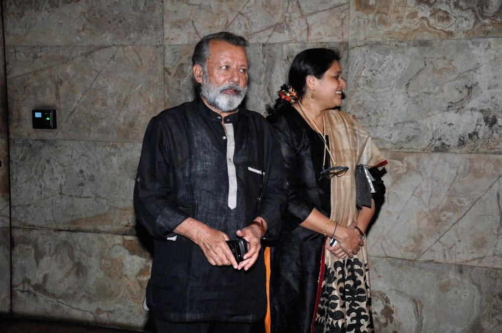 Actor Pankaj Kapur along with his wife Supriya Pathak during the screening of film 'Ram-Leela', in Mumbai on November 14, 2013. (Photo: IANS) - Pankaj Kapur and Supriya Pathak