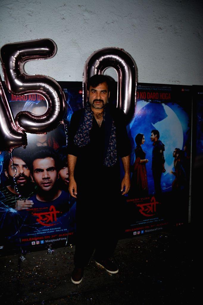 "Actor Pankaj Tripathi at success party of his film ""Stree"" in Mumbai on Sept 18, 2018. - Pankaj Tripathi"