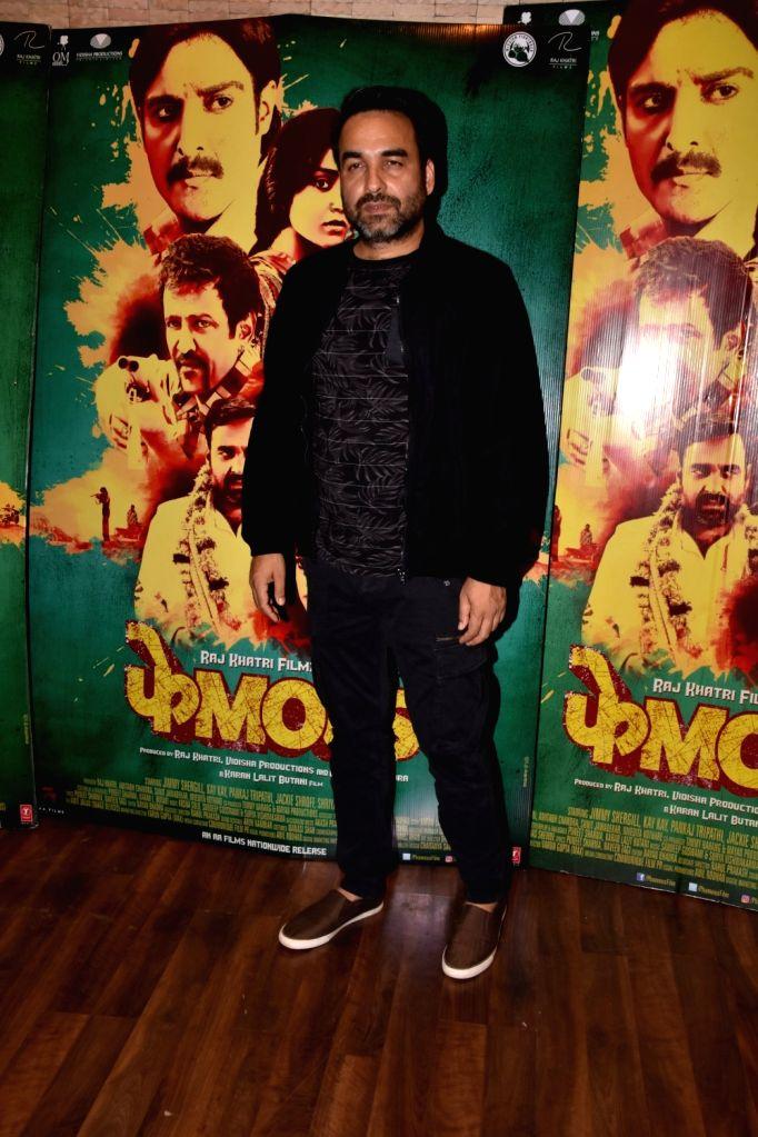 """Actor Pankaj Tripathi during a interview regarding his film """"Phamous"""" in Mumbai on May 23, 2018. - Pankaj Tripathi"""