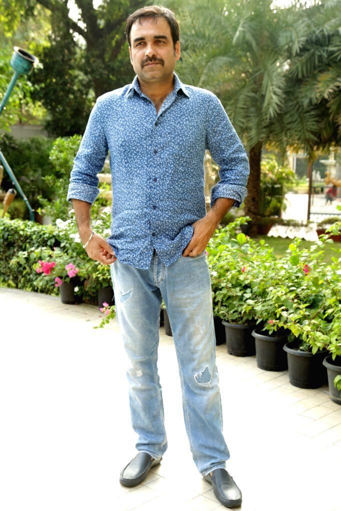 "Actor Pankaj Tripathi during a press conference to promote his upcoming film ""Newton"" in New Delhi on Sept 18, 2017. - Pankaj Tripathi"