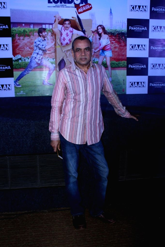 "Actor Paresh Rawal during a press conference regarding his upcoming film ""Guest Iin London"" in Mumbai on July 3, 2017. - Paresh Rawal"
