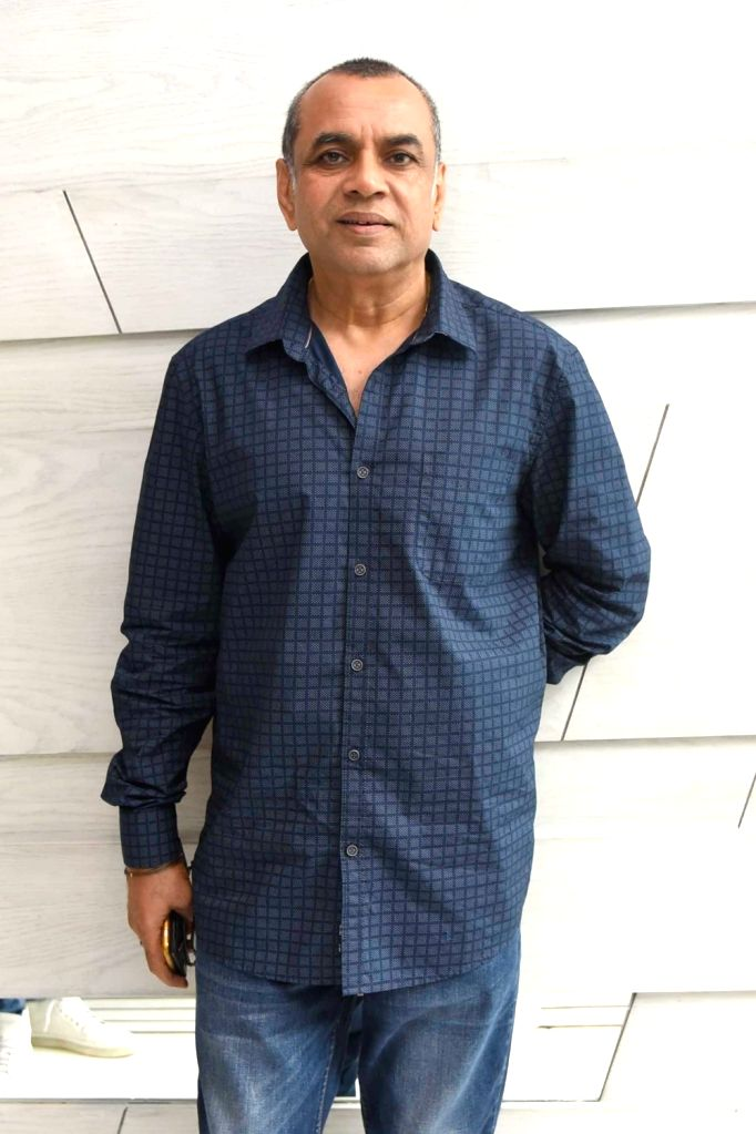 """Actor Paresh Rawal during a programme organised to promote his upcoming film """"Guest Iin London"""" in New Delhi, on July 5, 2017. - Paresh Rawal"""
