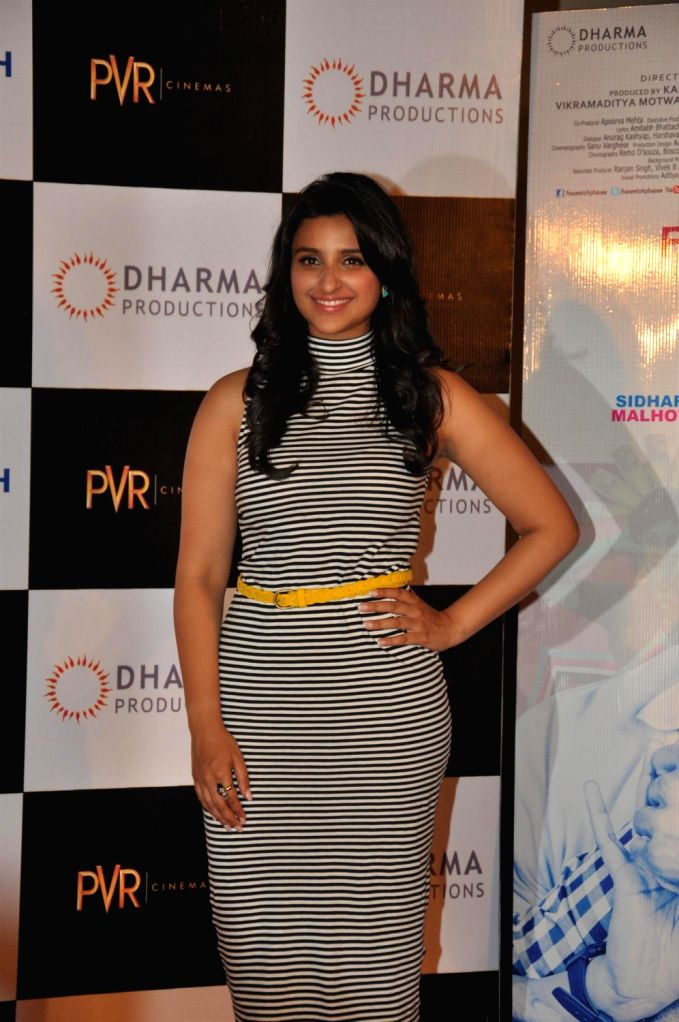 Actor Parineeti Chopra at the first look of her upcoming film Hasee Toh Phasee directed by Vinil Matthew at PVR Cinemas in Mumbai on December 13, 2013. - Parineeti Chopra