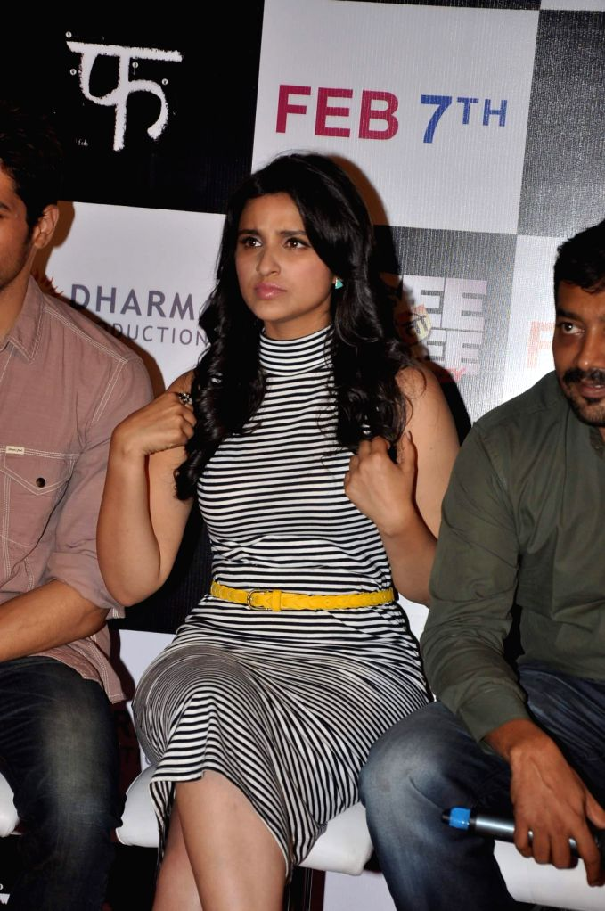 Actor Parineeti Chopra at the first look of their upcoming film Hasee Toh Phasee at PVR Cinemas in Mumbai on December 13, 2013. - Parineeti Chopra