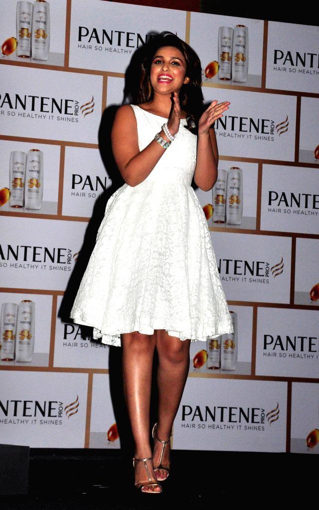 Actor Parineeti Chopra during the launch of Pantene's new campaign Proof not Promises in Mumbai on August 27, 2014. - Parineeti Chopra