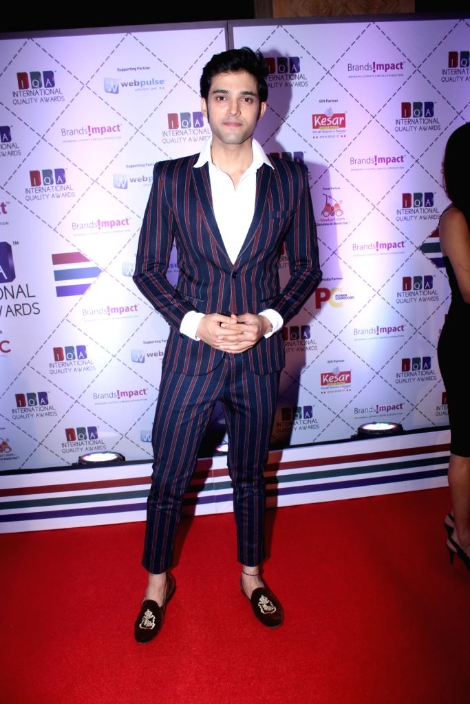 Actor Parth Samthaan during 2019 International Quality Awards (IQA) in Mumbai, on March 15, 2019. - Parth Samthaan