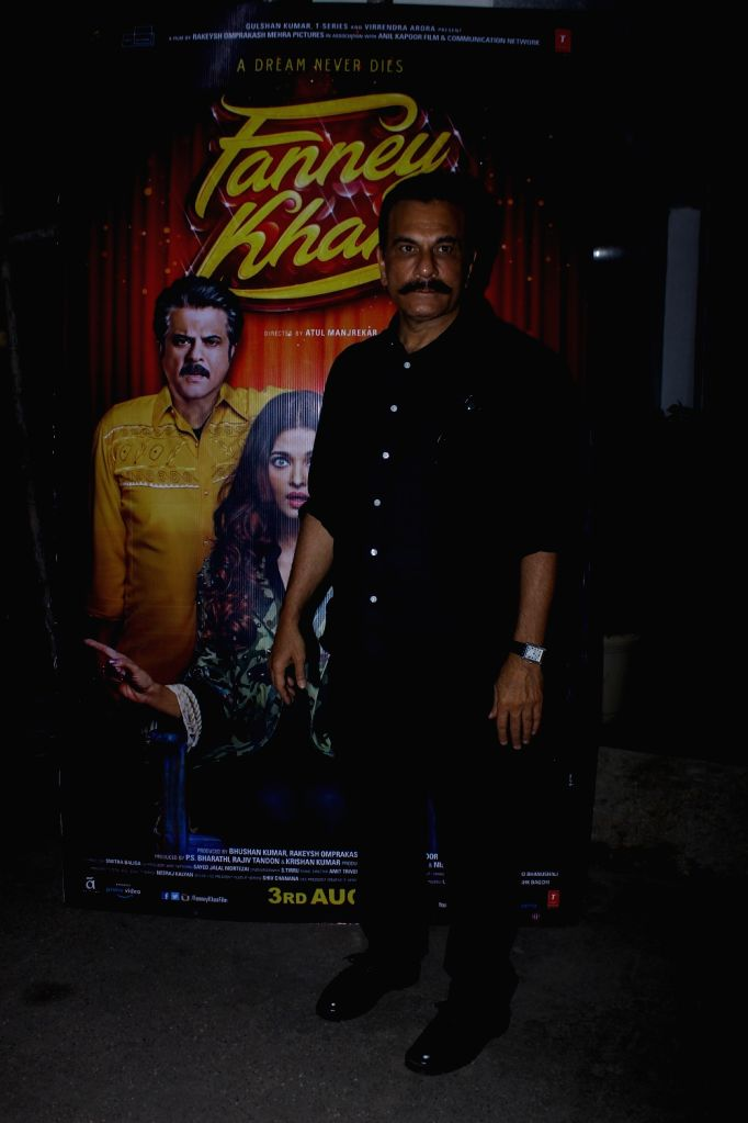 """Actor Pavan Malhotra at the special screening of upcoming film """"Fanney Khan"""", in Mumbai on Aug 1, 2018. - Pavan Malhotra and Fanney Khan"""
