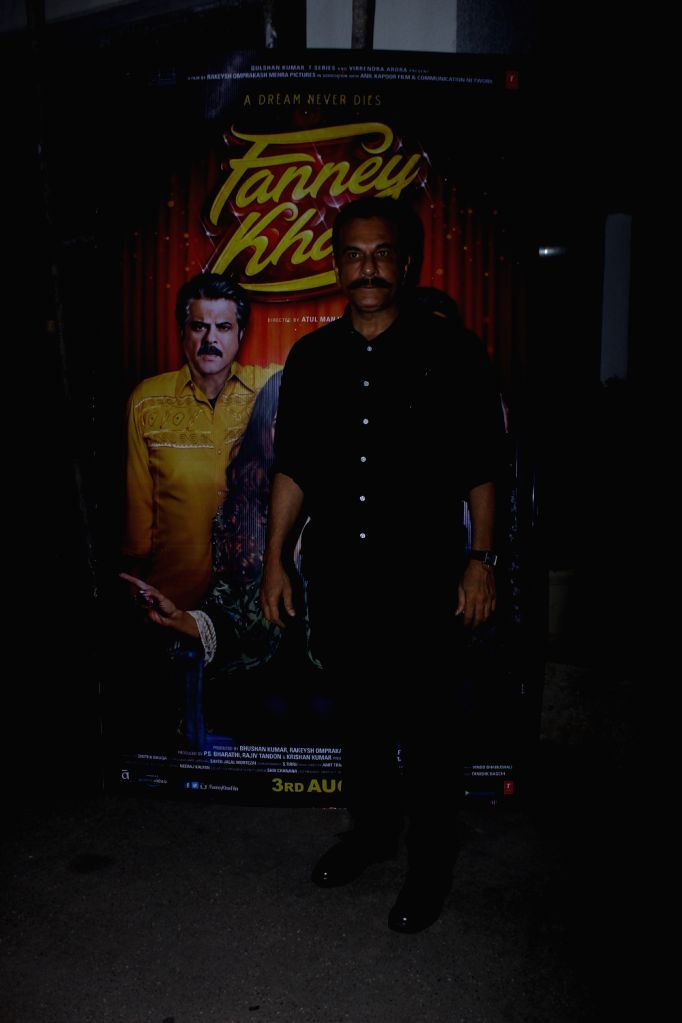 """Actor Pavan Malhotra at the special screening of upcoming film """"Fanney Khan"""", in Mumbai on Aug 2, 2018. - Pavan Malhotra and Fanney Khan"""