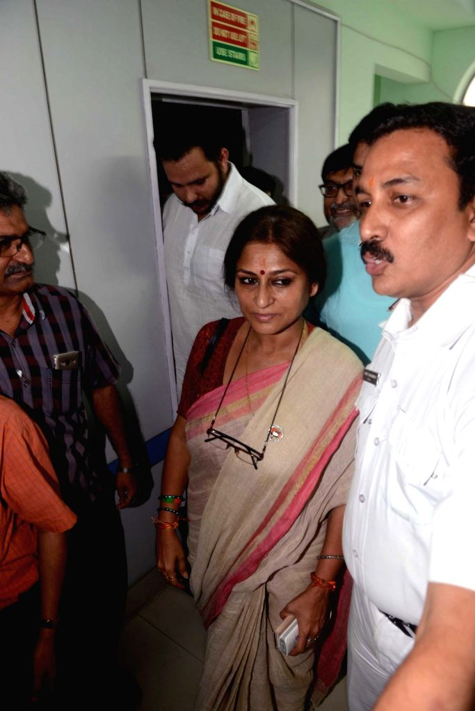Actor-politician Roopa Ganguly at Election Commission office in Kolkata, on April 18, 2016.