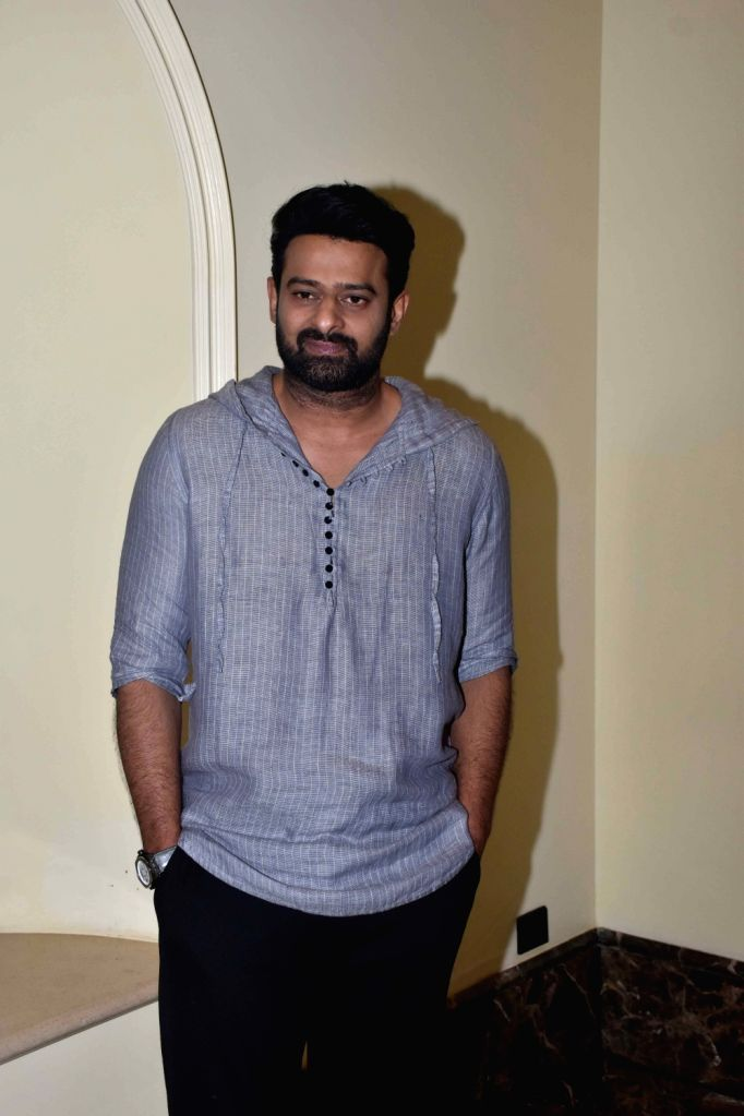 "Actor Prabhas during the promotions of her upcoming film ""Saaho"" in Mumbai on Aug 10, 2019. - Prabhas"