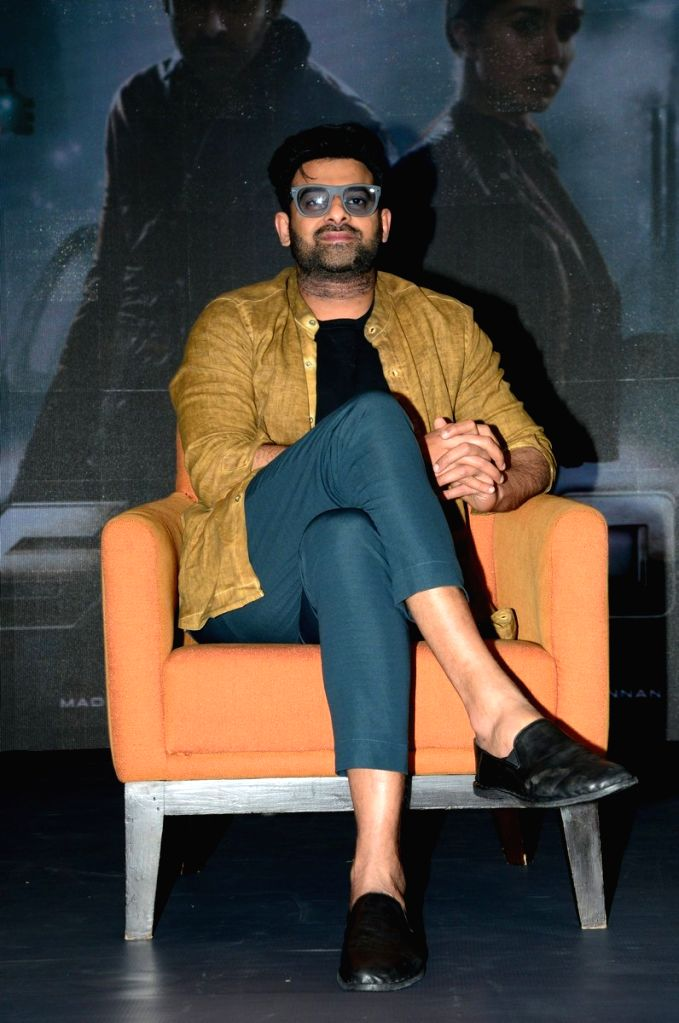 "Actor Prabhas Interacted to media on his movie ""Saaho"" in Hyderabad. - Prabhas Interacted"
