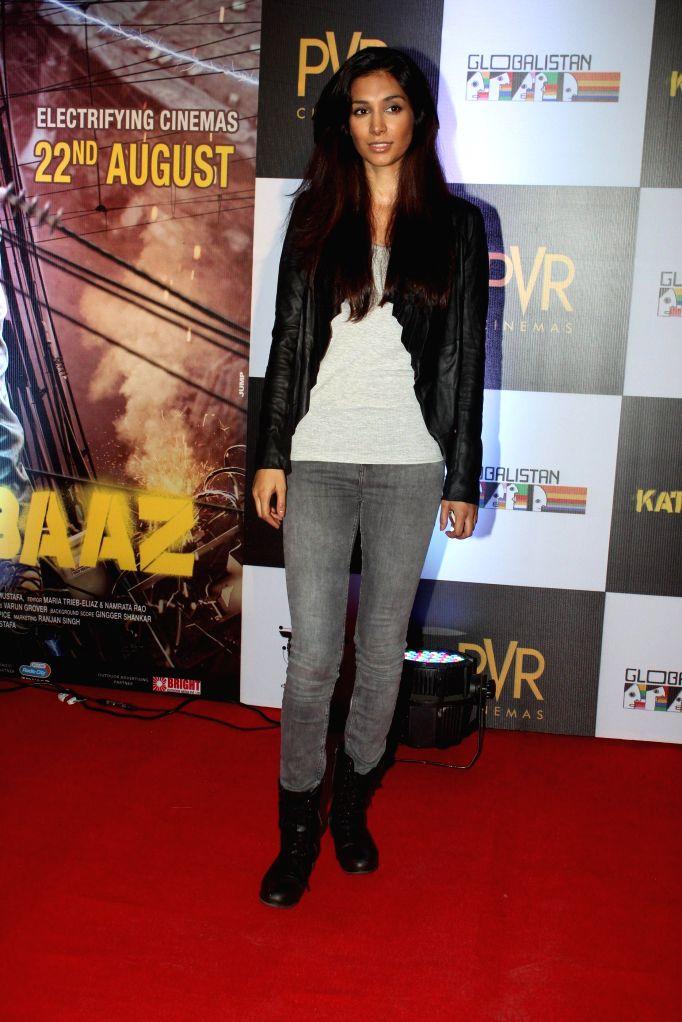 Actor Preeti Desai during the screening of the film Katiyabaaz in Mumbai, on Aug. 20, 2014. - Preeti Desai