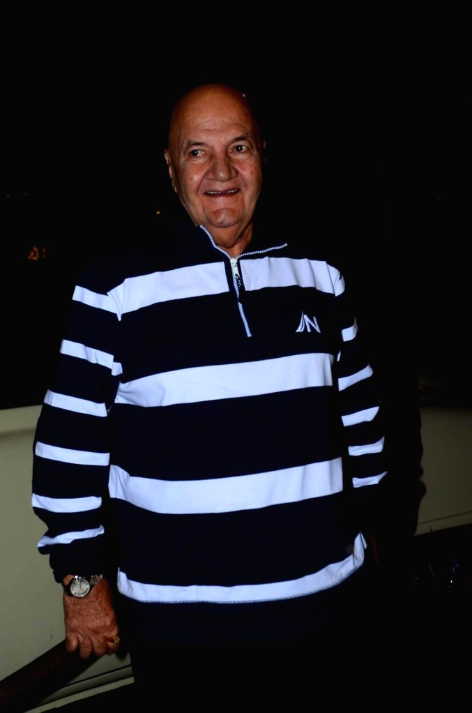 Actor Prem Chopra during the birthday celebrations of actor Kabir Bedi in Mumbai, on Jan 16, 2016. - Prem Chopra