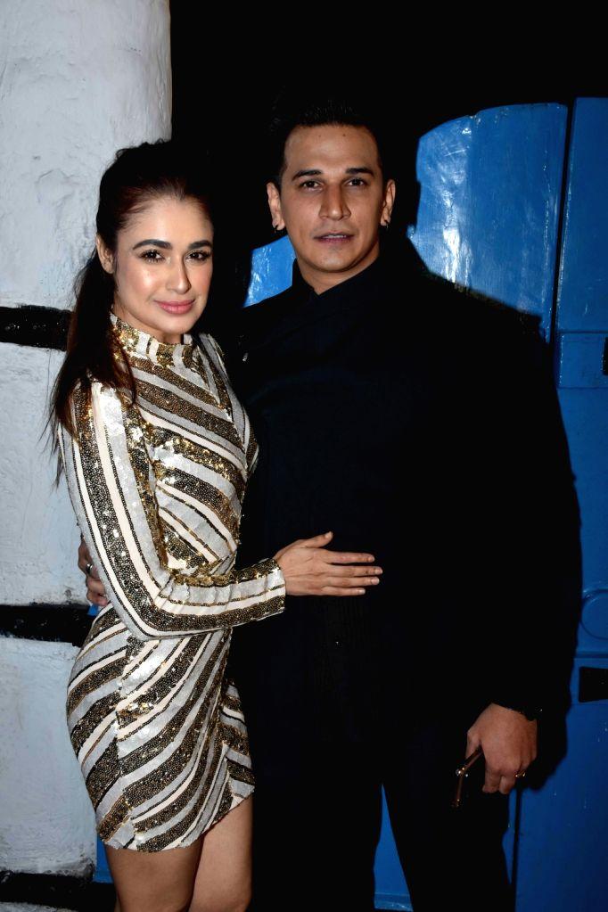 Actor Prince Narula with his wife Yuvika Chaudhary at the launch of photographer Dabboo Ratnani's calendar in Mumbai, on Jan 28, 2019. - Prince Narula and Yuvika Chaudhary