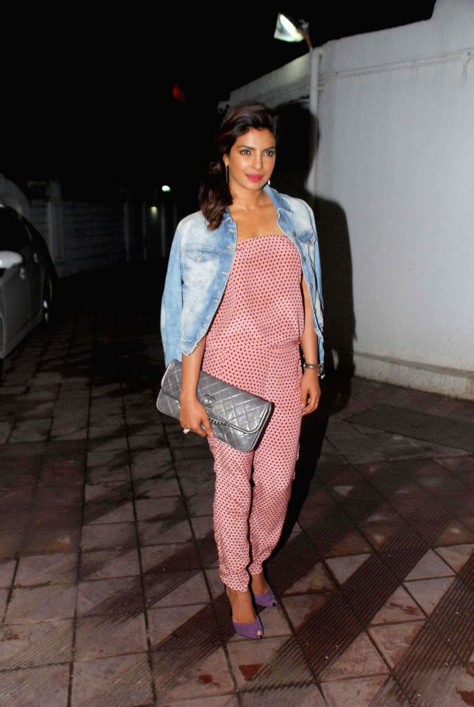 Actor Priyanka Chopra during her birthday celebration in Mumbai on July 25, 2014. - Priyanka Chopra