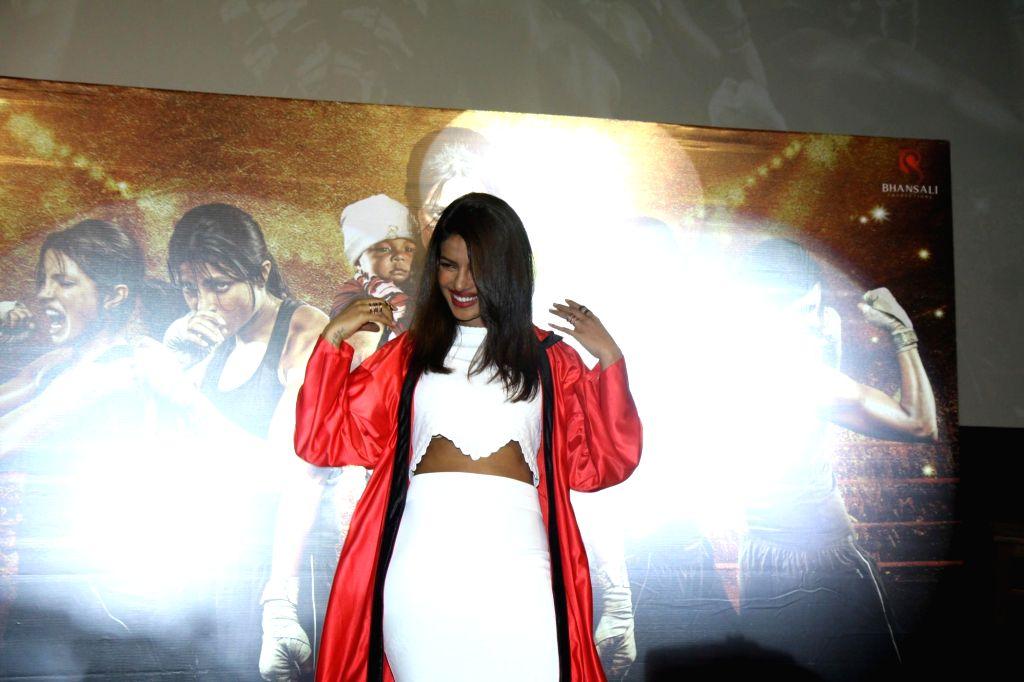 Actor Priyanka Chopra during the unveiling of the trailer of film Mary Kom in Mumbai on July 23, 2014. - Priyanka Chopra
