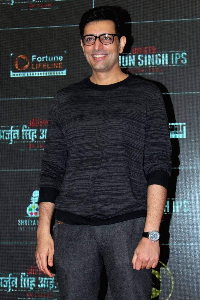 "Actor Priyanshu Chatterjee at the trailer and music launch of his upcoming film ""Officer Arjun Singh IPS"" in Mumbai on Oct 10, 2019. (*Photo: IANS) - Priyanshu Chatterjee and Arjun Singh I"