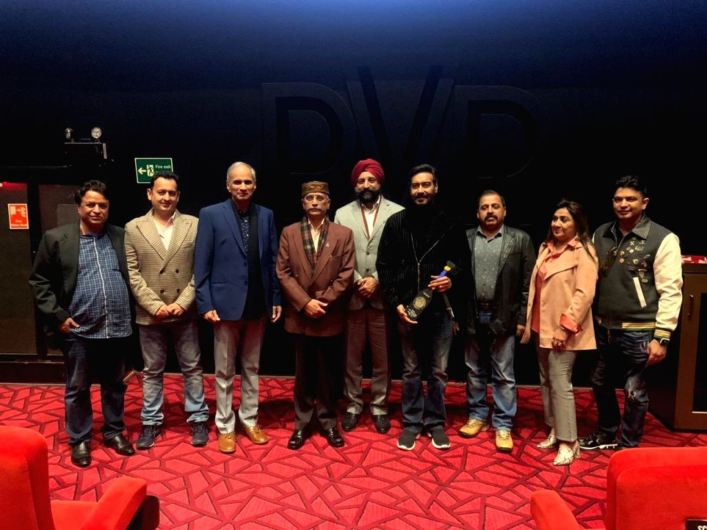 """Actor-producer Ajay Devgn expressed gratitude to the three military chiefs of the nation -- Army, Navy and Air Force -- for watching his latest film """"Tanhaji: The Unsung Warrior"""".""""Honoured to spend an evening with the three Chiefs. Thank you all for  - Ajay Devgn"""