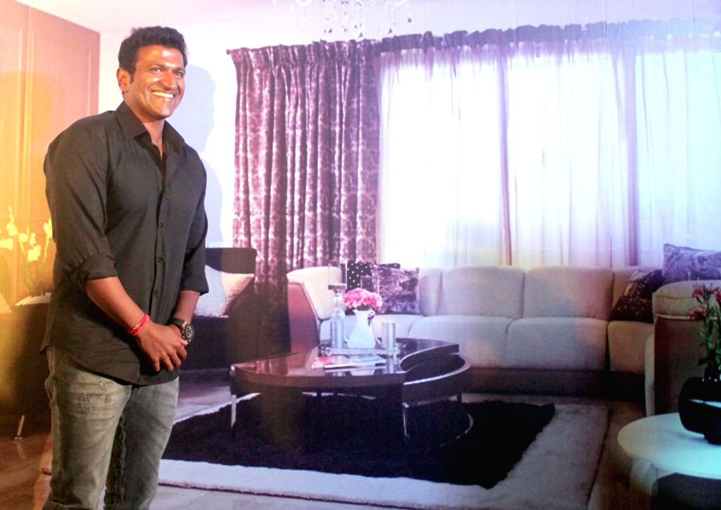 Actor Puneeth Rajkumar during the launch of a product in Bengaluru on Aug 2, 2016. - Puneeth Rajkumar