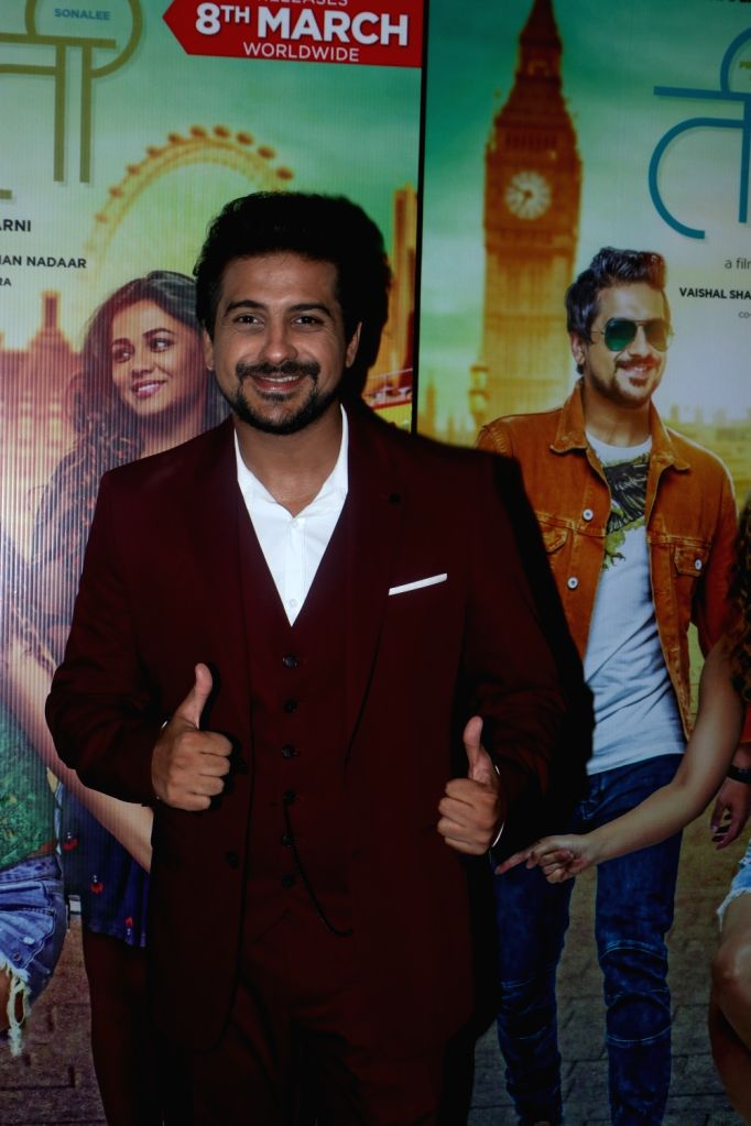 "Actor Pushkar Jog at the screening of his upcoming Marathi film ""Ti And Ti"" in Mumbai, on March 7, 2019. - Pushkar Jog"