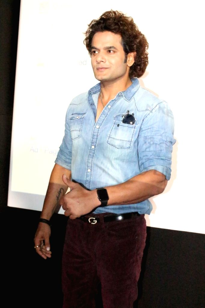 "Actor Qaiz Khan during a press conference regarding song ""Ishq Wali Baarish"" in Mumbai. - Qaiz Khan"