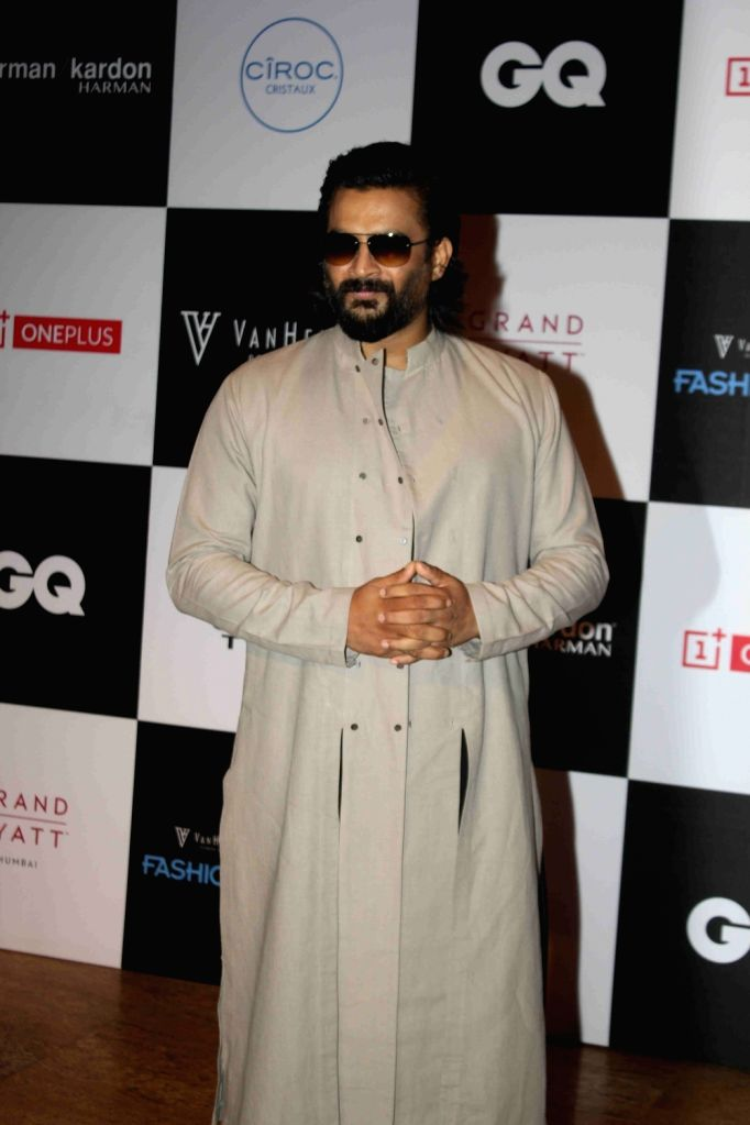 Actor R. Madhavan during the Van Heusen GQ Fashion Nights 2015 Day 2 in Mumbai on Dec 2, 2015. - R. Madhavan