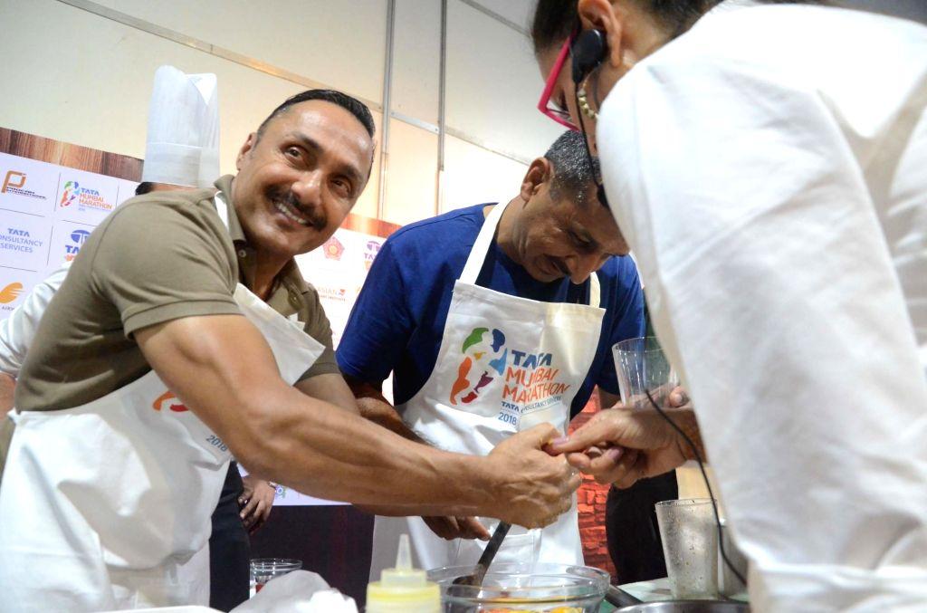 Actor Rahul Bose during a pasta party organised ahead of Mumbai Marathon on Jan 20, 2018. - Rahul Bose