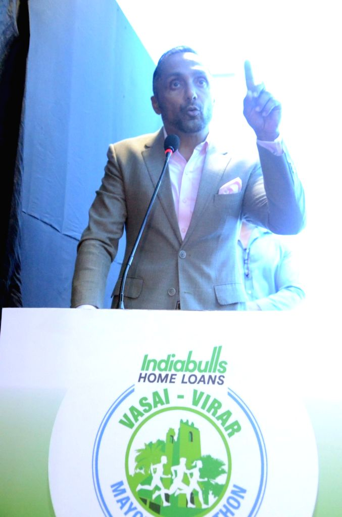 Actor Rahul Bose during a programme organised to announce the 'Vasai-Virar Mayor's Marathon' at Indiabulls Finance Center in Mumbai on Oct 4. 2017. - Rahul Bose