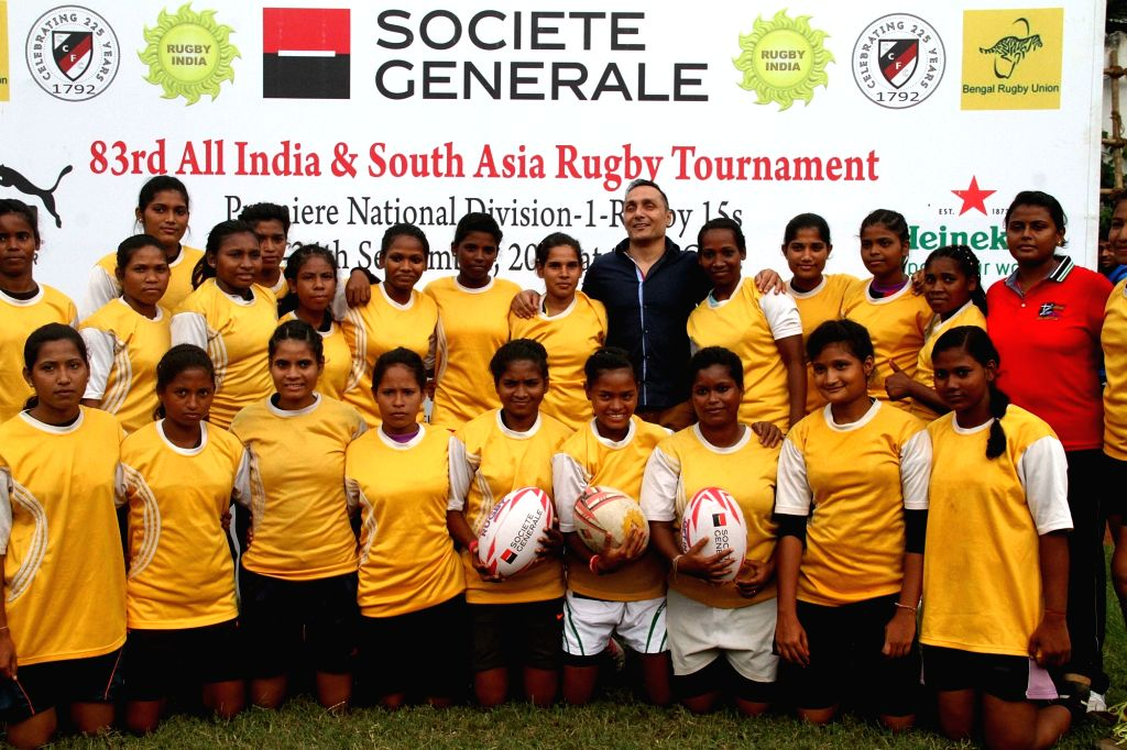 Actor Rahul Bose during a women Rugby match in Kolkata on Sept 23, 2016. - Rahul Bose