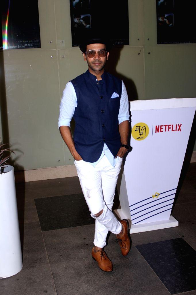 Actor Raj Kumar Yadav potted at PVR cinema in Mumbai on May 24, 2017. - Raj Kumar Yadav