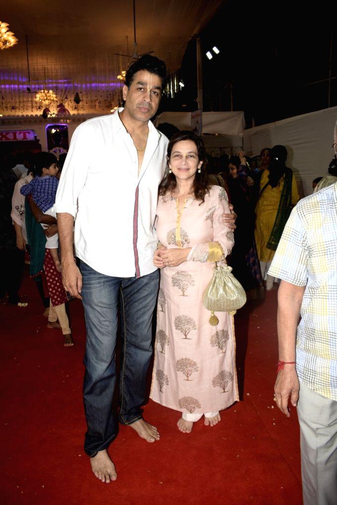 Actor Rajat Bedi during Janmashtami celebrations at ISKCON temple, in Mumbai on Sept 3, 2018. - Rajat Bedi