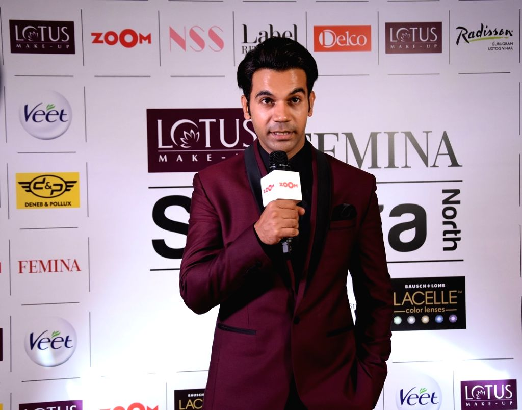 Actor Rajkumar Rao addresses at Lotus Makeup Femina Stylista North 2019 in Gurugram, on March 29, 2019. - Rajkumar Rao