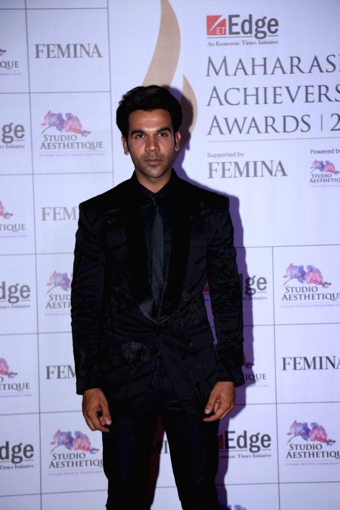 Actor Rajkumar Rao at Maharashtra Achievers' Awards 2019 in Mumbai, on March 14, 2019. - Rajkumar Rao