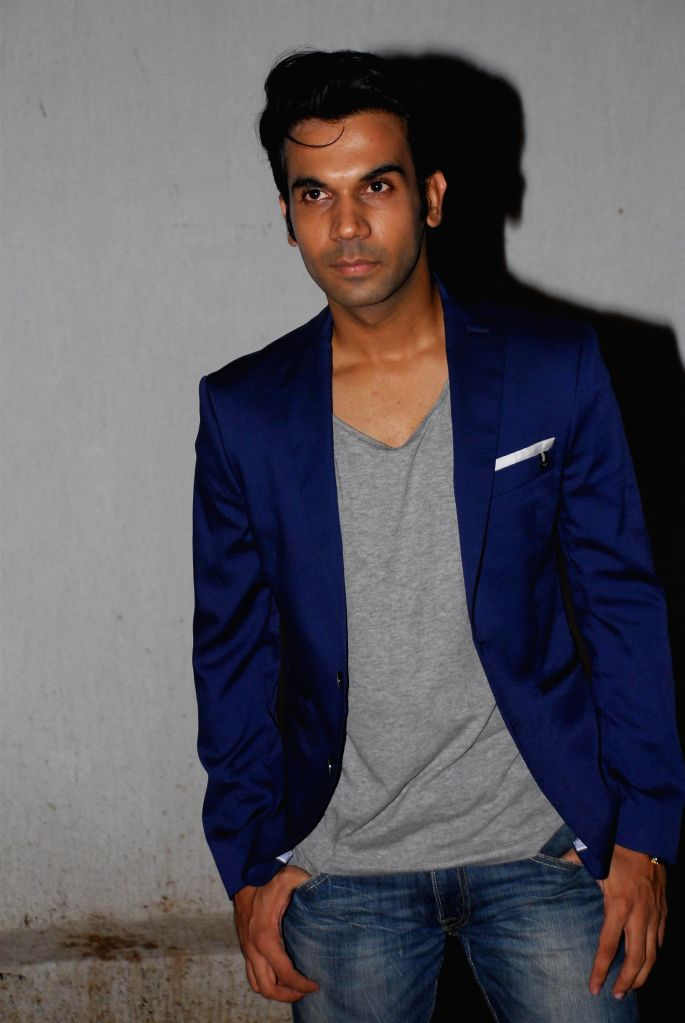 Actor Rajkumar Rao during the birthday celebration of actor Priyanaka Chopra in Mumbai on July 25, 2014. - Rajkumar Rao and Priyanaka Chopra