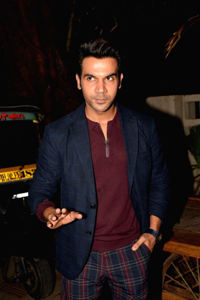 Actor Rajkumar Rao seen at Bandra in Mumbai on Oct 18, 2019. - Rajkumar Rao
