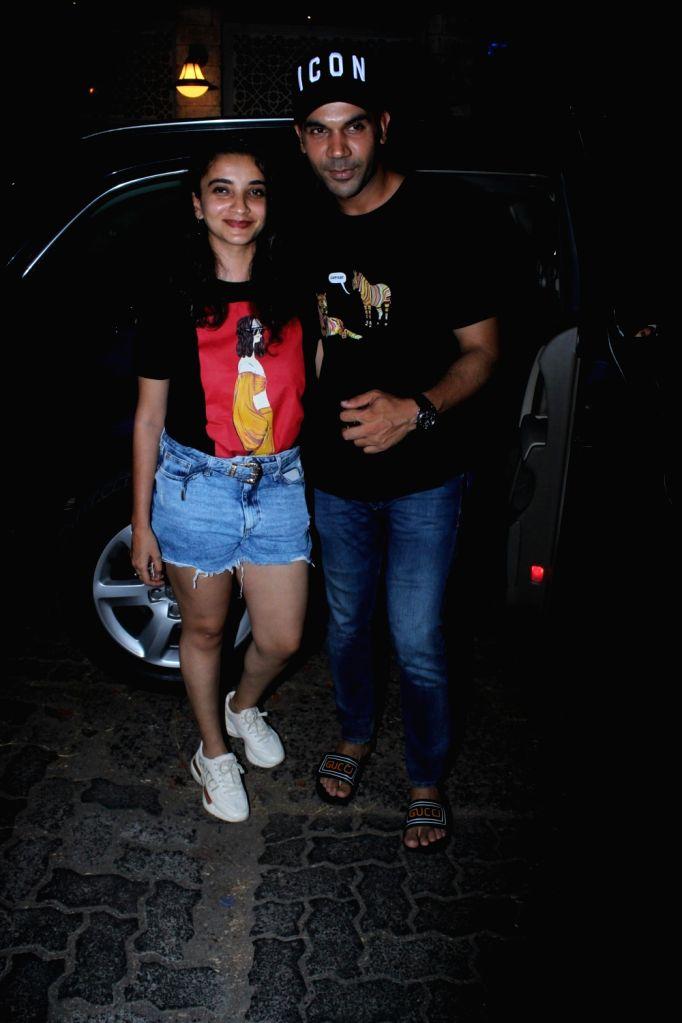 Actor Rajkummar Rao and his girlfriend-actress Patralekhaa seen at Juhu, in Mumbai, on June 6, 2019. - Rajkummar Rao