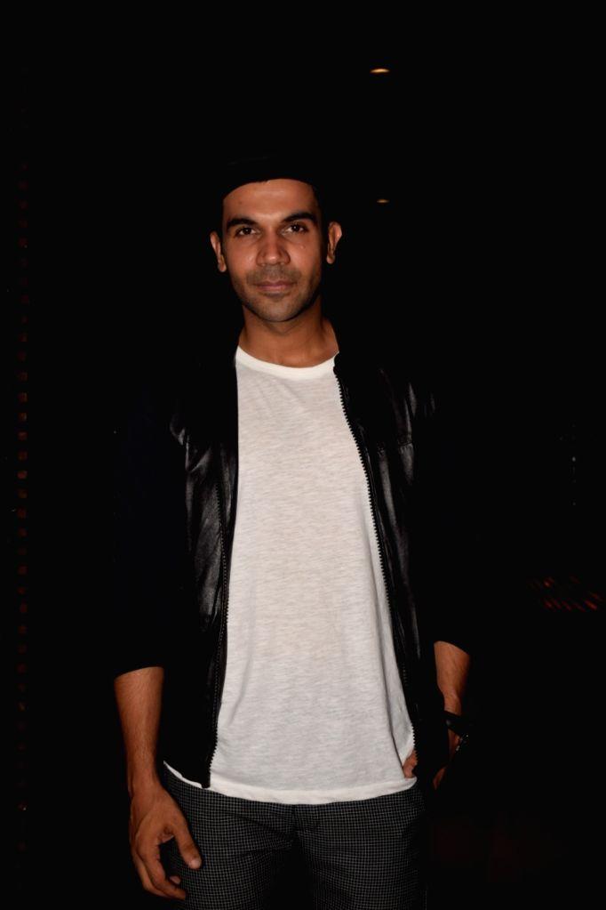 Actor Rajkummar Rao at Estella Lounge in Mumbai on Oct 10, 2017. - Rajkummar Rao