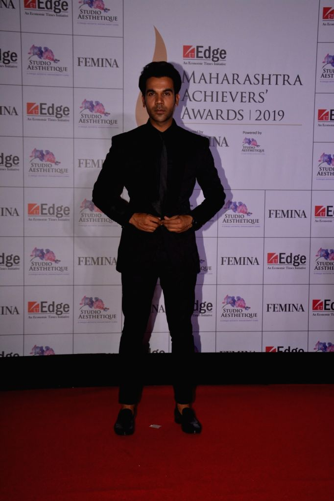 Actor Rajkummar Rao at ET Edge Maharashtra Achievers' Awards 2019 in Mumbai, on March 14, 2019. - Rajkummar Rao