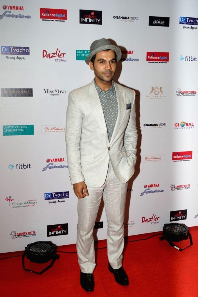 "Actor Rajkummar Rao at star studded red carpet of ""Miss Diva Grand Finale"" in Mumbai on Oct 11, 2017. - Rajkummar Rao"