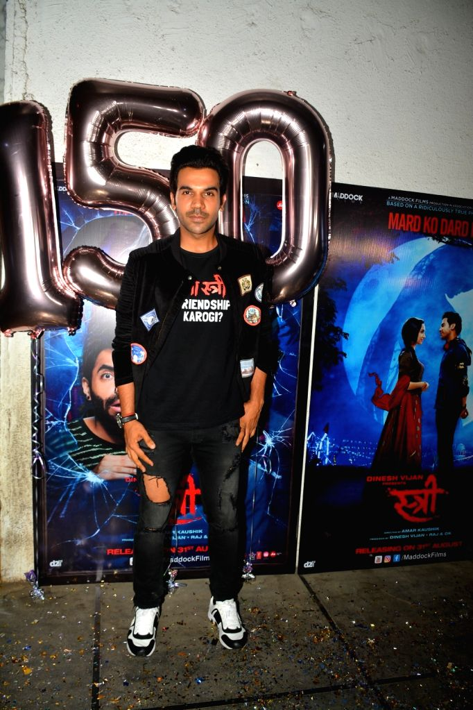 "Actor Rajkummar Rao at success party of his film ""Stree"" in Mumbai on Sept 18, 2018. - Rajkummar Rao"