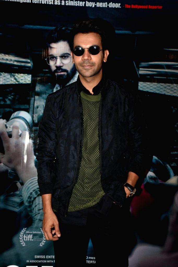 "Actor Rajkummar Rao at the promotion of his upcoming film ""Omerta"" in Mumbai on April 3, 2018. - Rajkummar Rao"